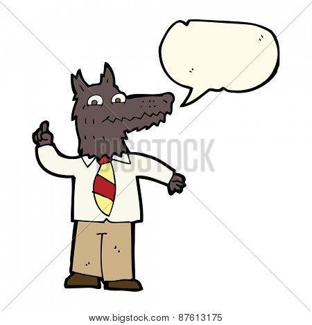 cartoon business wolf
