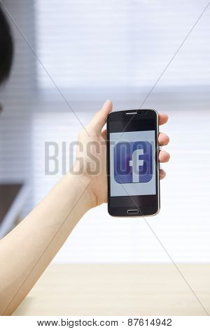 Kuala Lumpur,Malaysia 9th April 2015,Facebook is an online social networking service founded in February 2004 by Mark Zuckerberg