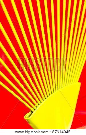Yellow bars of iron rays