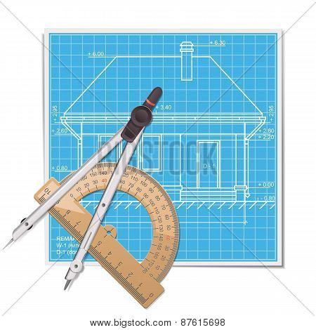 Vector Layout With Protractor