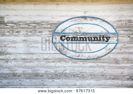 Community Message on Shed