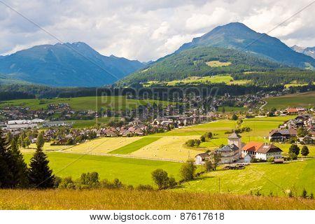 Mountain Village In Austria