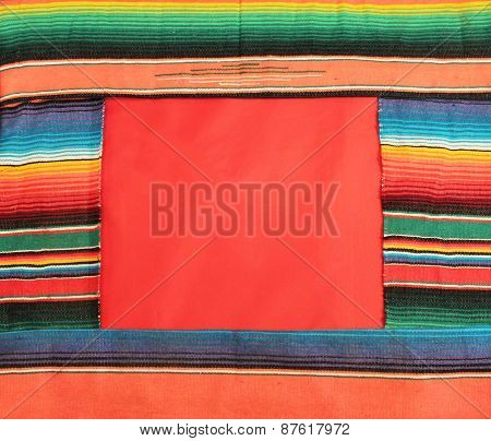 Mexico fiesta poncho serape rug blanket sombrero background