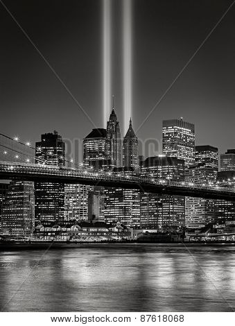 Tribute In Light, September 11 Commemoration, New York City
