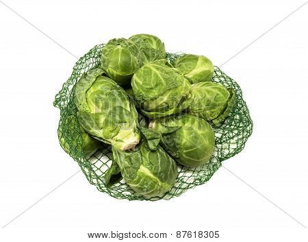 Bag of fresh Brussel Sprouts