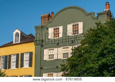 Homes - Rainbow Row, Charleston, South Carolina