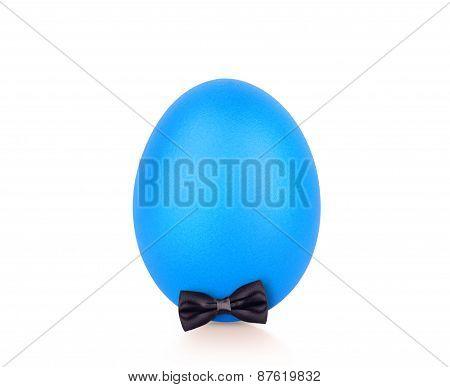 blue egg isolated on white