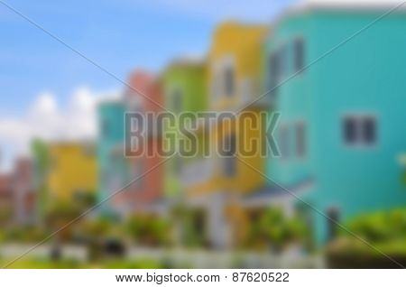 Background Image Of Colorful Beach Condominiums