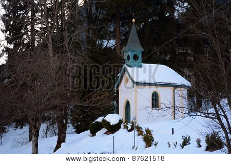 Small Chapel In Winter