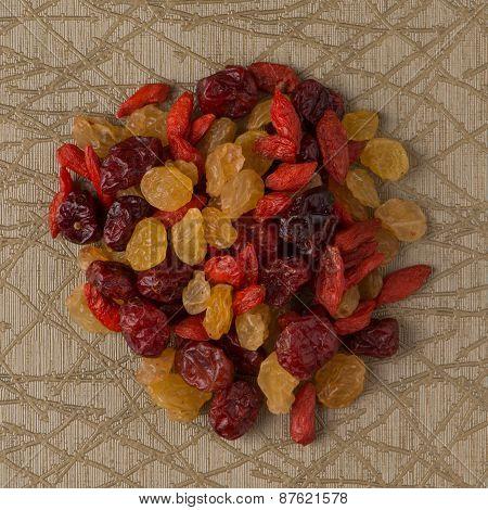 Circle Of Mixed Dried Fruits