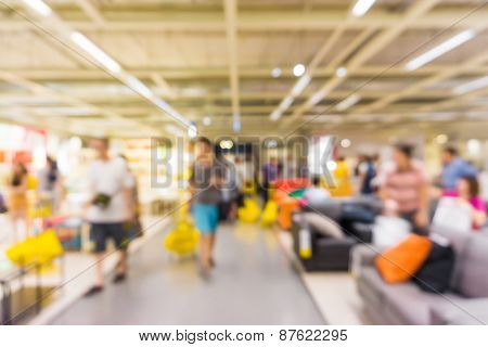 Store Blur Background With People