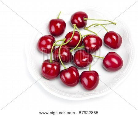 Big juicy ripe cherry