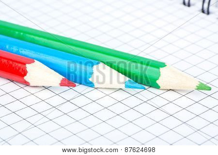 Three Pencil And Notebook