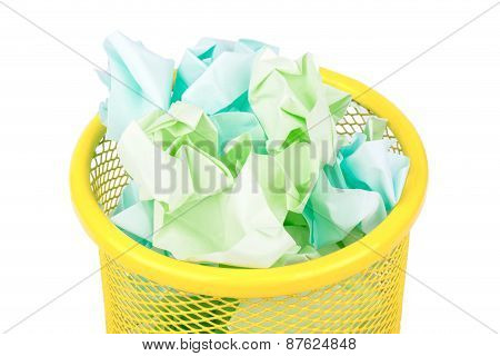 Iron Basket With Paper
