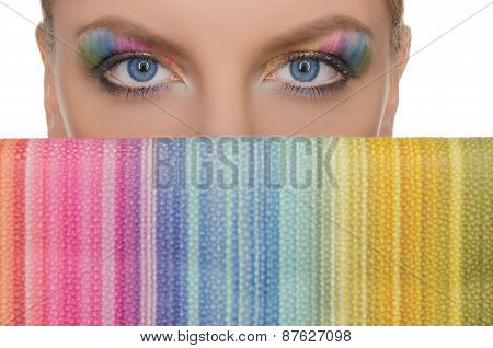 Horizontal Picture Multicolored Eyes And Wallet