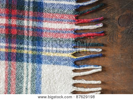 Wool Flannel On Wood