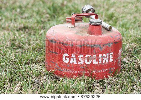 Red Vintage Gasoline Can
