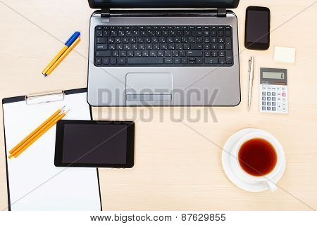 Business Still Life - Above View Of Working Place
