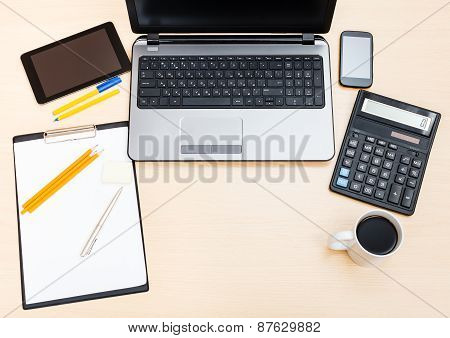 Business Still Life - Above View Of Office Table