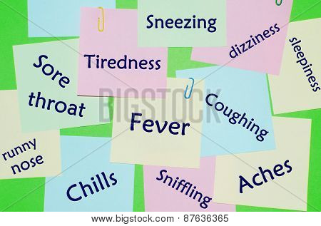 Symptoms of flu and cold