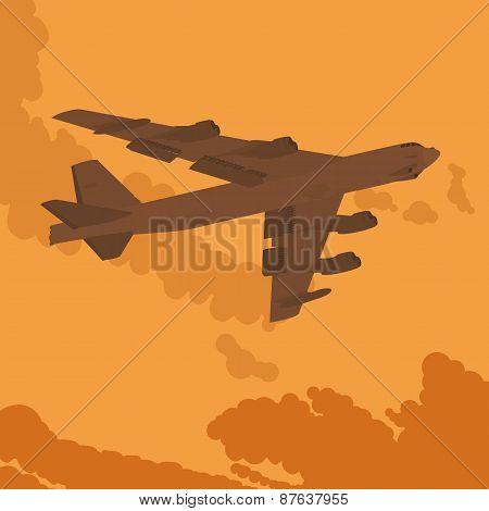 Heavy bomber in the sky