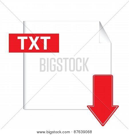 Txt download icon