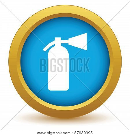 Gold fire extinguisher icon