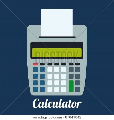 Calculator design, vector illustration.