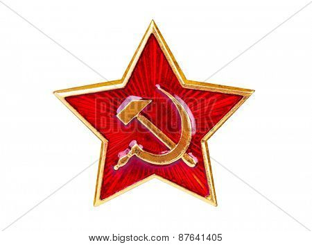Soviet State Star isolated on white background