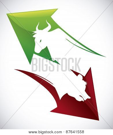 Wall street design, vector illustration.