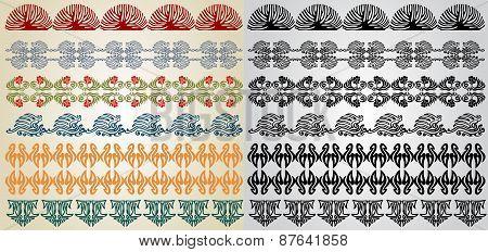 Pattern Element Art Nouveau