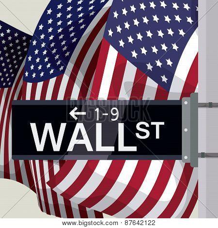 Wall street design, vector illustration.