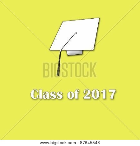 Class of 2017 White on Yellow Single Lg