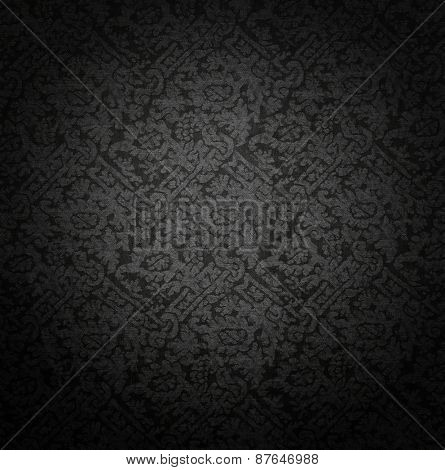 dark canvas with beautiful woven pattern.