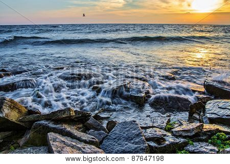 Rocky Northern Shore Sunrise