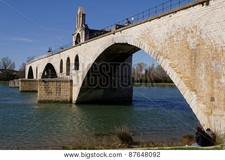 Bridge Saint Benezet or The Pont d'Avignon