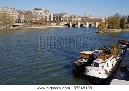 The River Seine In Paris