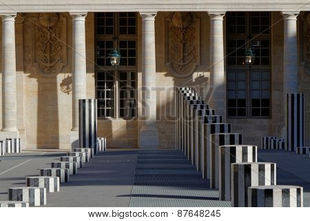 The Palais Royal courtyard