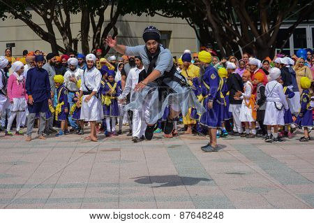 Devotee Sikh Man Dancing