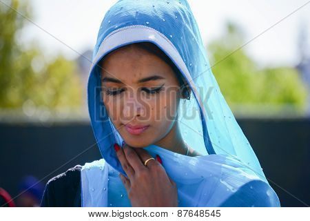 Devotee Sikh Praying