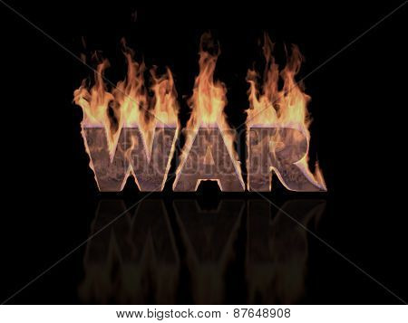 War word in Flames