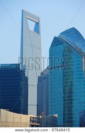 Shanghai urban architecture closeup