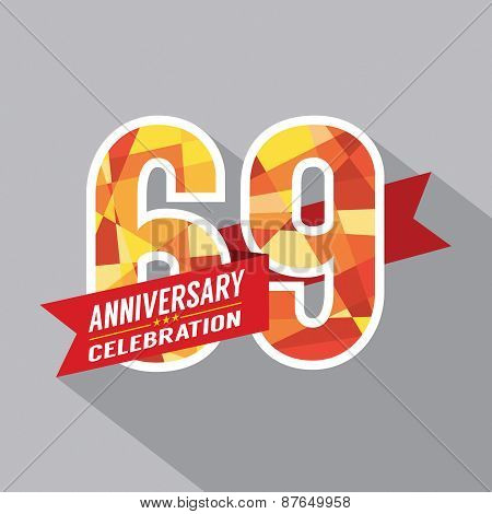 69Th Years Anniversary Celebration Design.