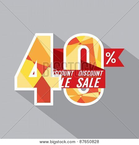 Discount 40 Percent Off.