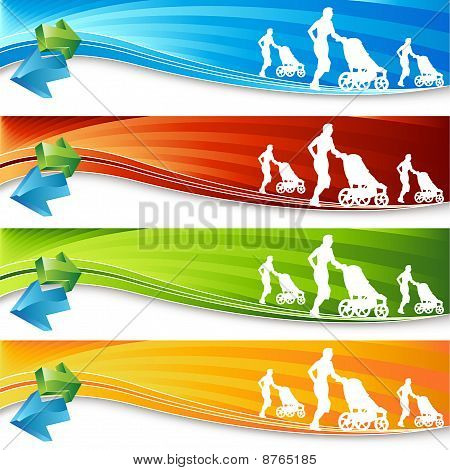 Exercising Mother Banners