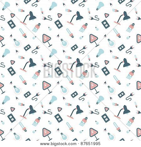 electrical appliances and light bulbs pattern