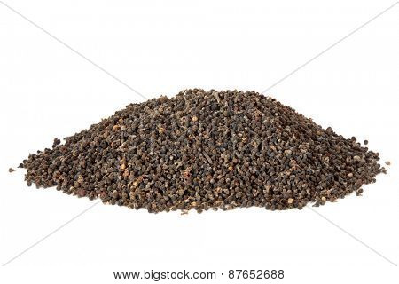 Evodia fruit herb used in chinese herbal medicine over white background. Wu zhu yu.