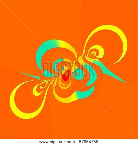Abstract art illustration. Colorful isolated swirl. Creative digital elements. Background.
