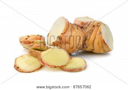 Galangal Isolated On A White Background