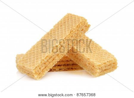 Wafers Isolated On A White Background